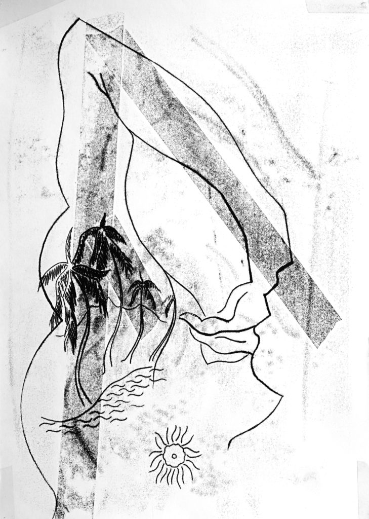 Olivier PASSIEUX - La petite vie toujours - Transfert à l'huile sur papier synthétique - 70x50 cm - 2015 - Copyright Galerie GAG