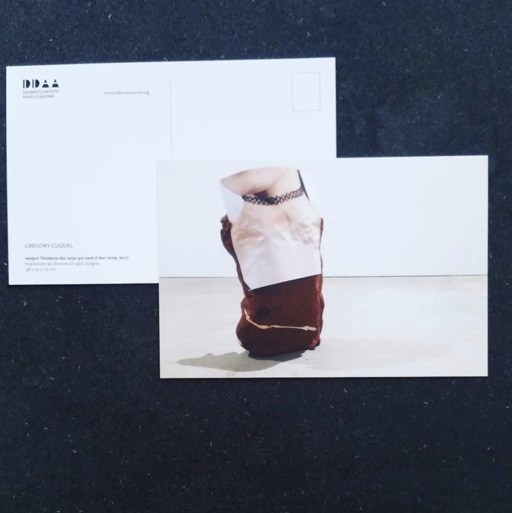 Postcard  edition - Grégory Cuquel, despite the evidence of the body going to ruin, 2017