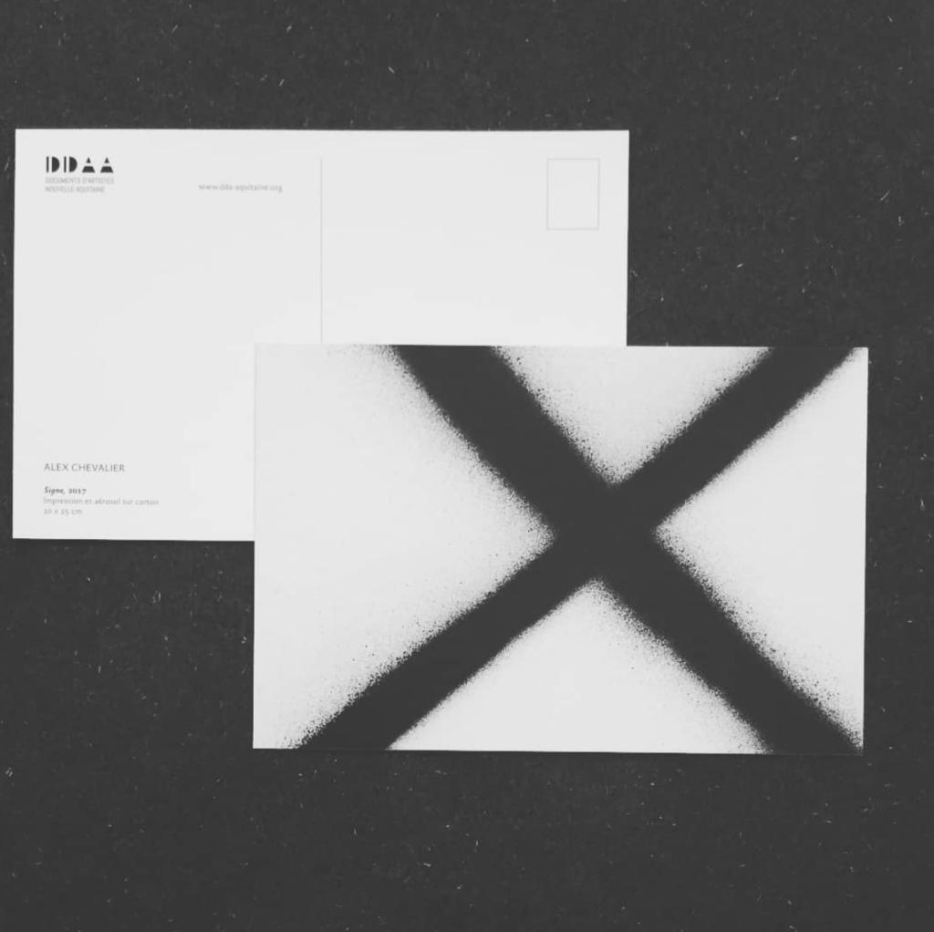 Postcard  edition - Alex Chevalier, Sign, 2017