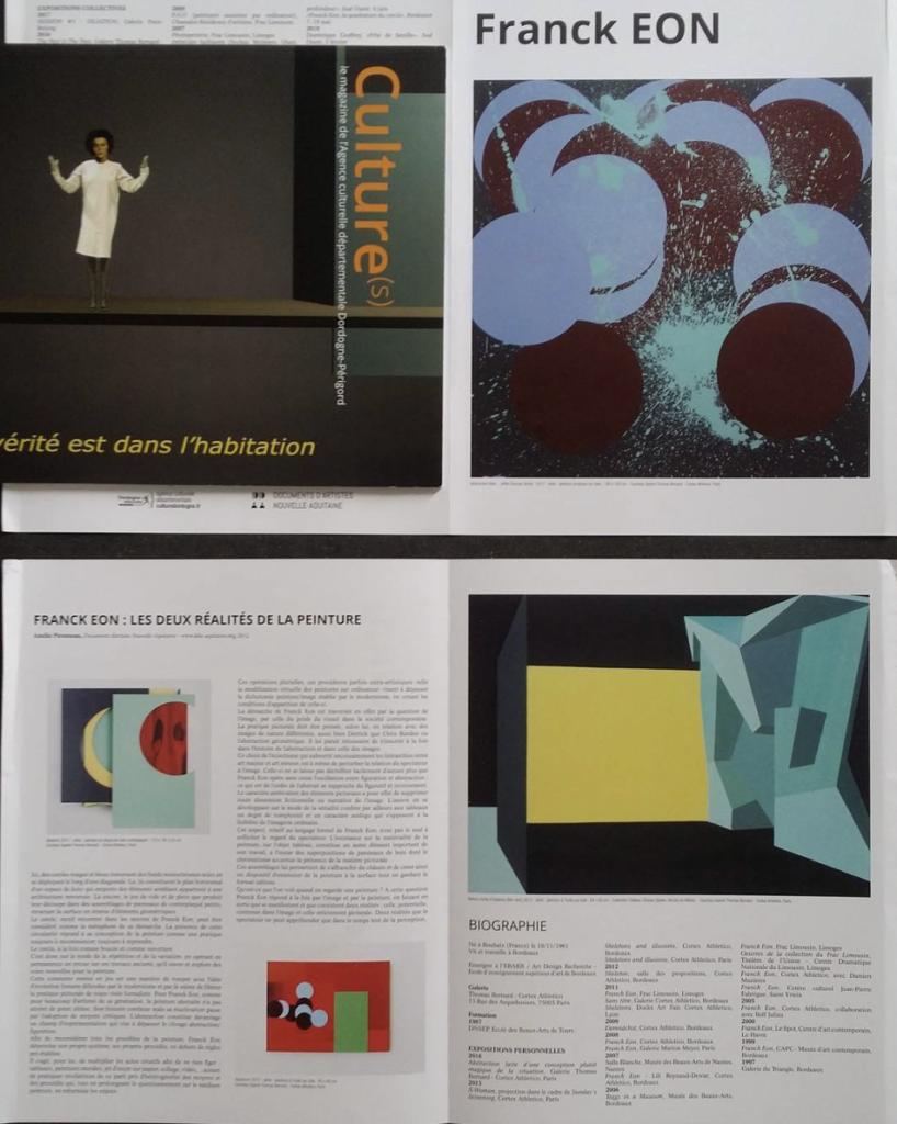 Separate publication - Franck Éon, in collaboration with the Dordogne Périgord Cultural Magazine