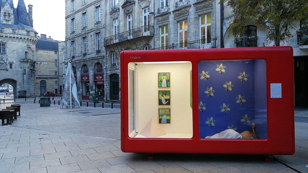 Vue de HALTE, Margot Sokolowska, Galerie Tinbox mobile, Bordeaux
