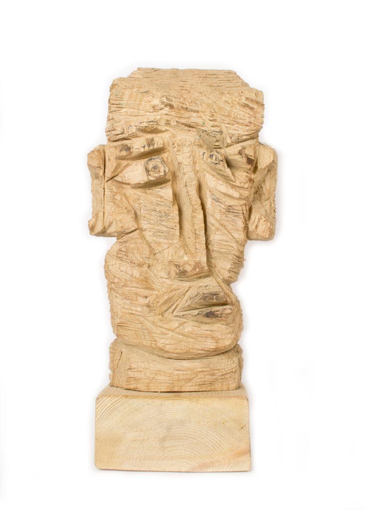 Sans titre, sculpture bois (frêne), 40.5 x 20 x 12.5 cm, 2017, photo : musée de la Création Franche