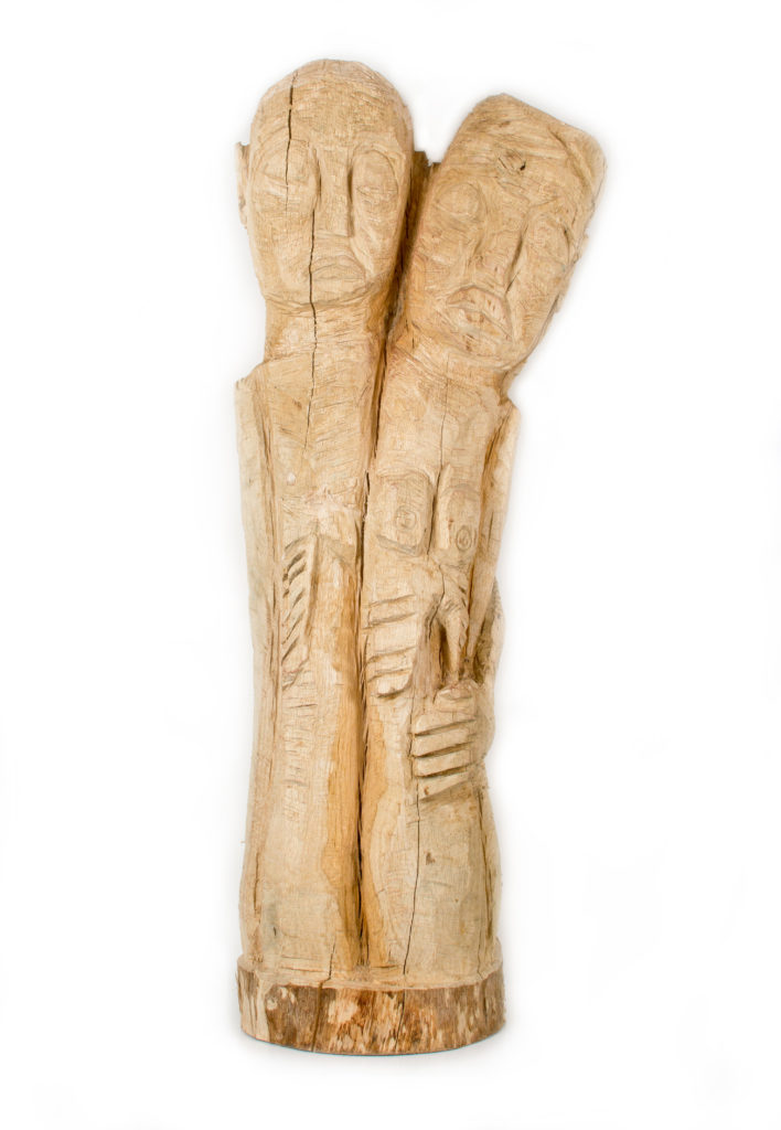 Sans titre, sculpture bois (chêne), 105 x 44 x 29 cm, 2018, photo : musée de la Création Franche