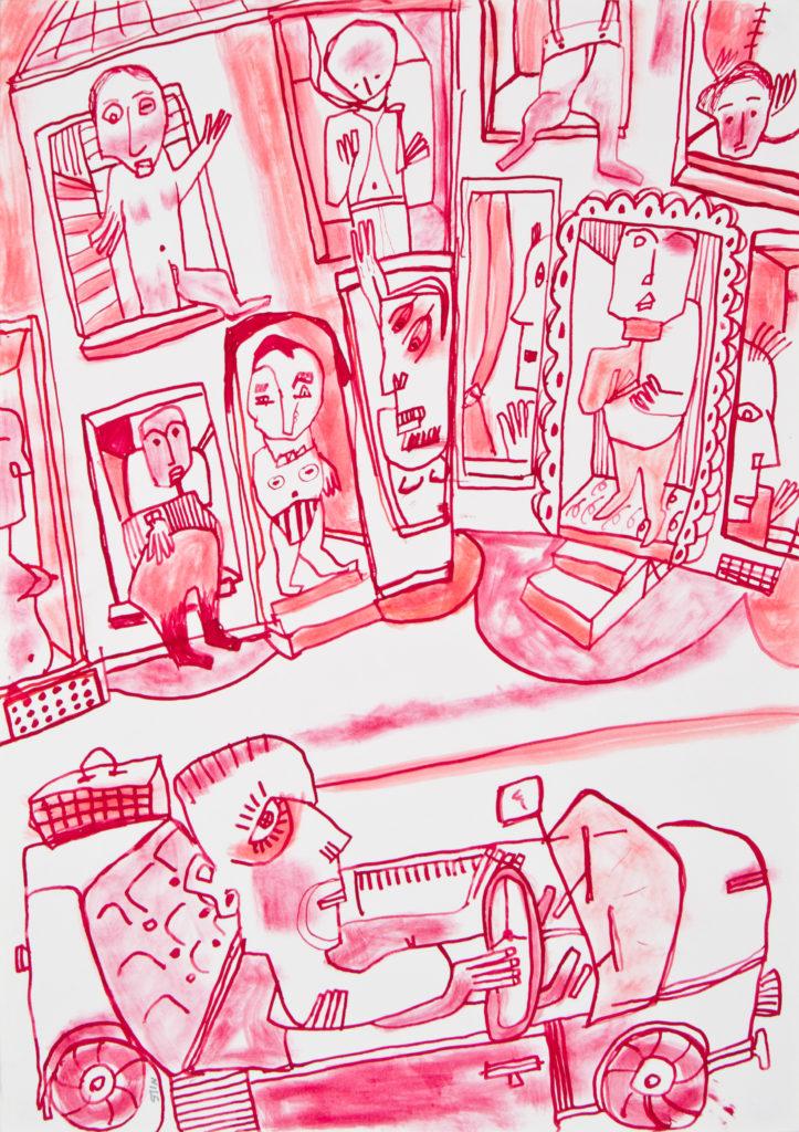Encre sur papier, 42 x 29.5cm © Musée de la Création Franche