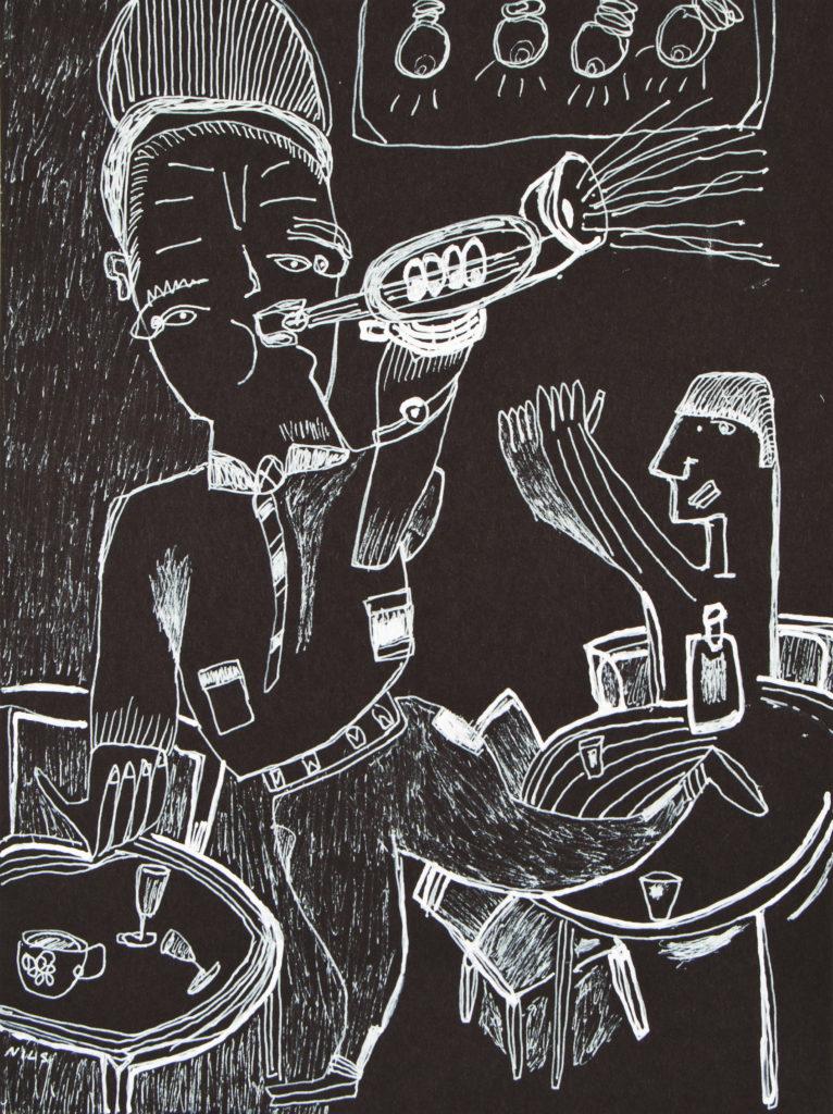 Encre sur papier, 32 x 24 cm© Musée de la Création Franche