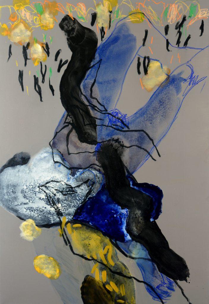 Alain Alquier - Bois de vie - 2018 - technique mixte sur toile - 130 X 97 cm