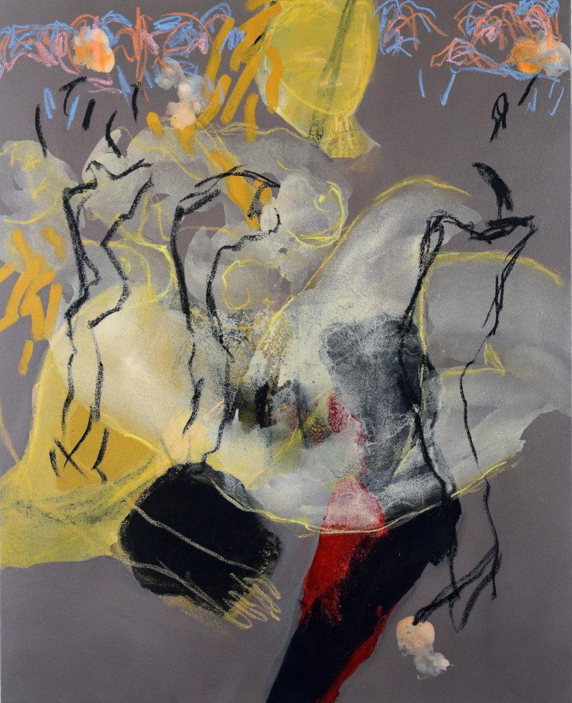 Alain Alquier - Bois de vie - 2018 - technique mixte sur toile - 100 X 81 cm