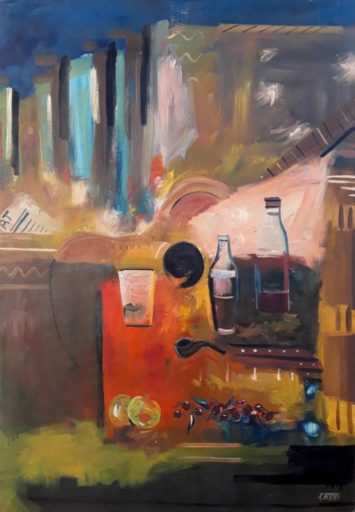 Robert Ferri - El tablao - Huile sur toile - 116 X 81 cm