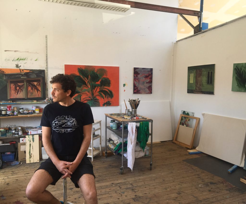 Johann Milh, in his studio at La Réserve La Réserve - Bienvenue, Bordeaux