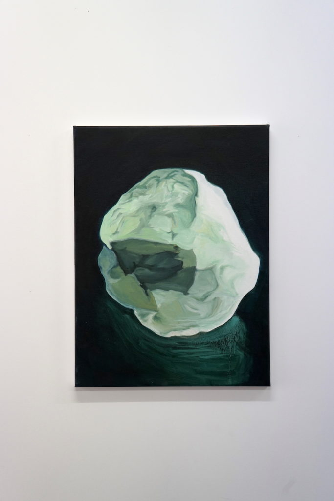 sans titre (cailloux), 2019, oil on canvas, 61 x 50 cm
