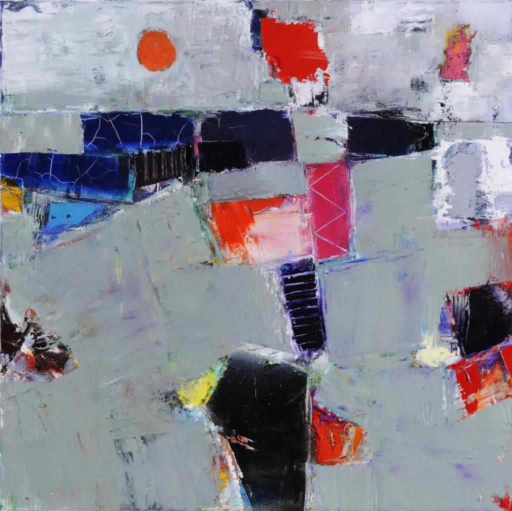Jean-Jacques ROSSBACH - Seaside 2 - Huile sur toile - 50 X 50 cm - 2017