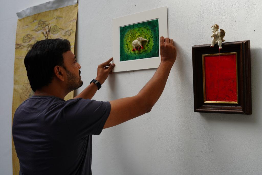 Sunil Lohar, artistic residency at La Réserve - Bienvenue, Bordeaux, September 2019