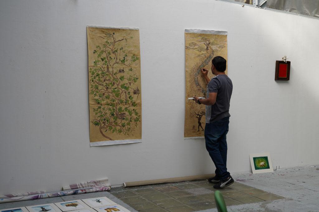Sunil Lohar, Résidence artistique à La Réserve - Bienvenue, Bordeaux, Septembre 2019