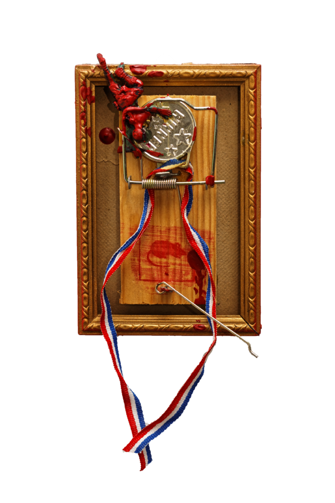 Piège à cons, assemblage technique mixte, 15,5 x 10,5 cm, 2019