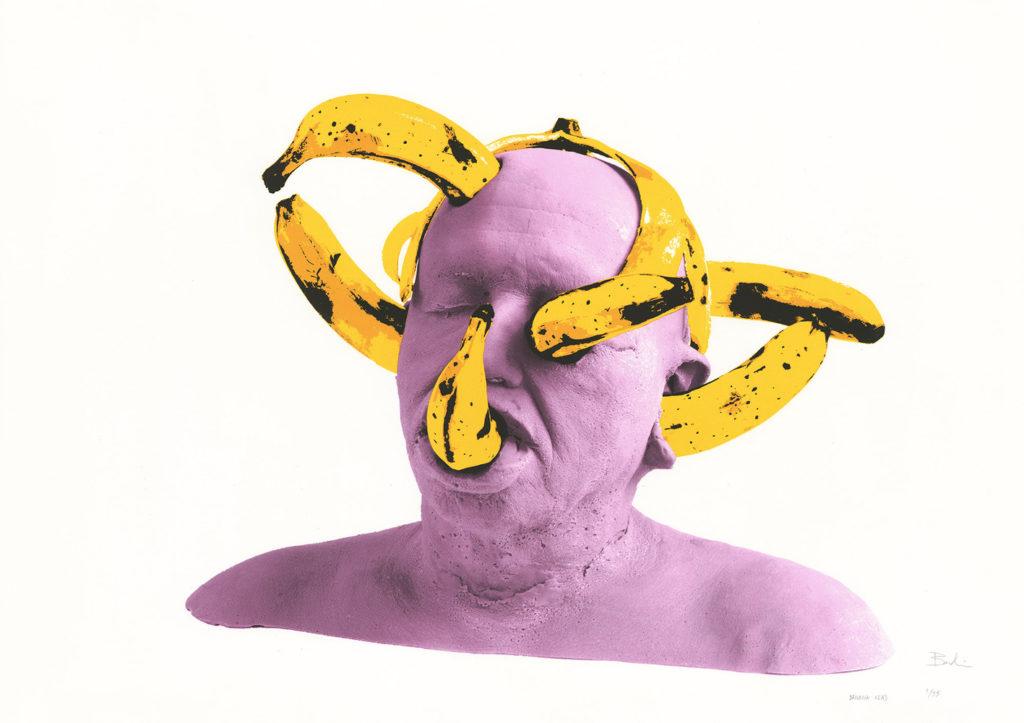 Gilles BARBIER, Banana Head, 2018 - Sérigraphie en 6 couleurs, 75 x 105 cm