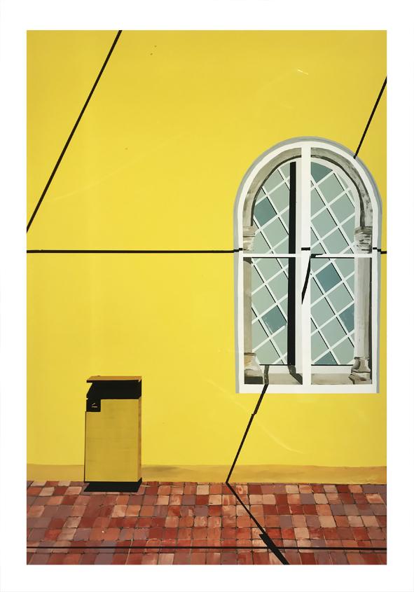 Cassandre Cecchella,  Lisbonne, 2020, Acrylic on Plexiglas, 70 x 49,5 cm
