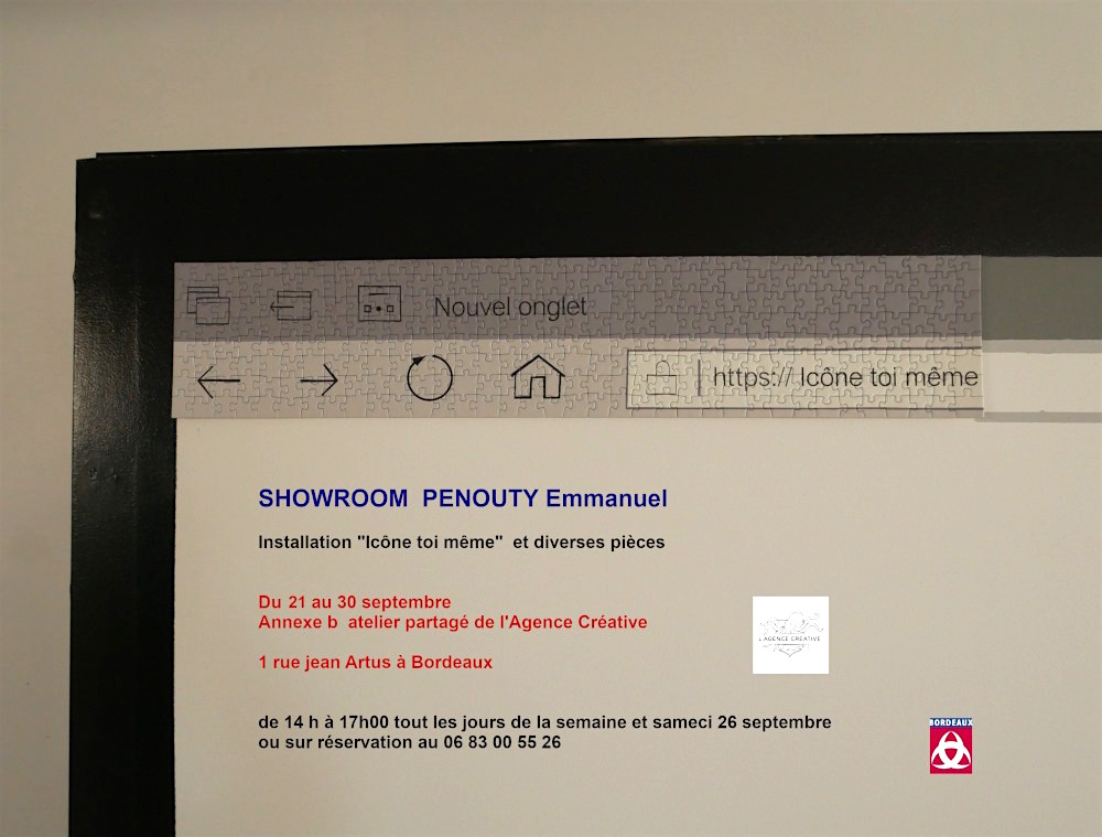 Icône toi même, Showroom d'Emmanuel Penouty