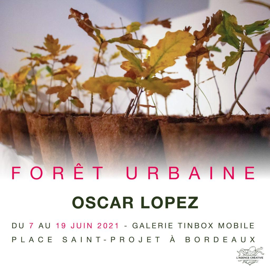 FORÊT URBAINE, OSCAR LOPEZ, GALERIE TINBOX #5