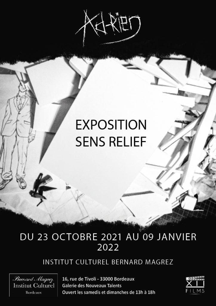 EXPOSITION SENS RELIEF DE L'ARTISTE AD-RIEN